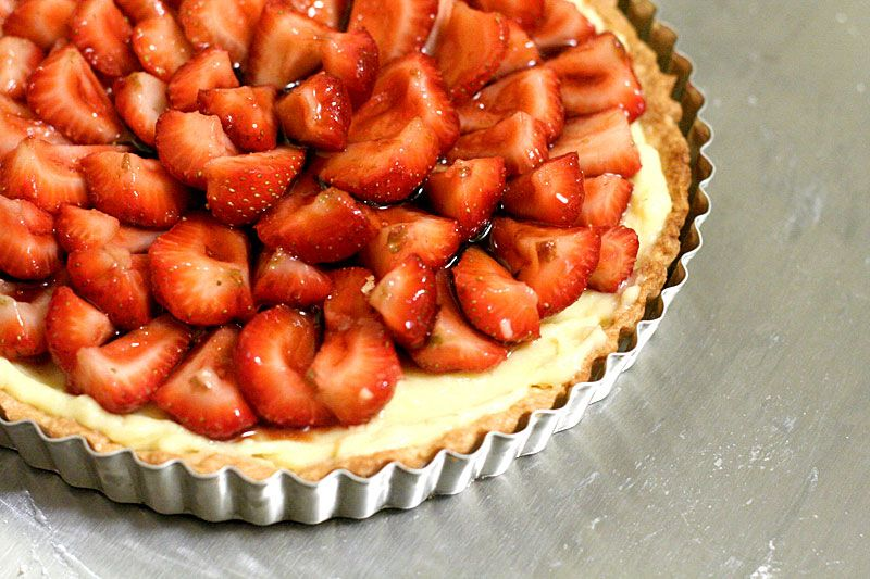 Fresh Strawberry Tart from Quite Curious. Summer.