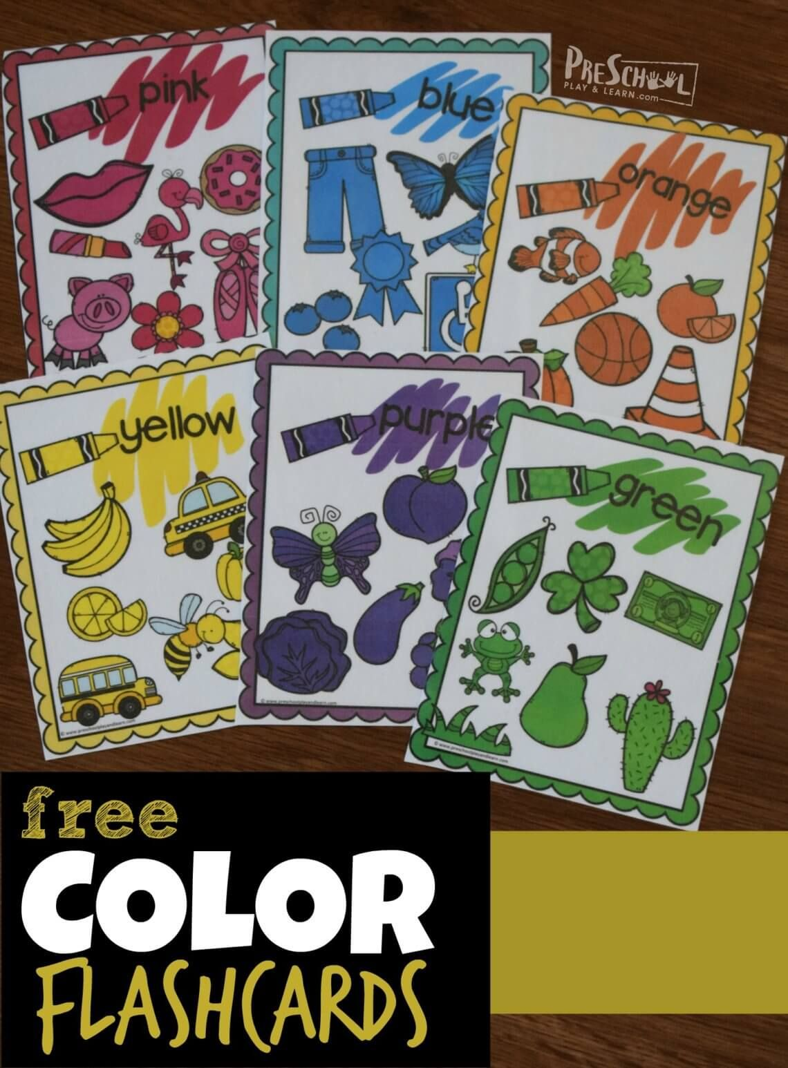 Free Color Flashcards Have So Many Clever Uses To Teach