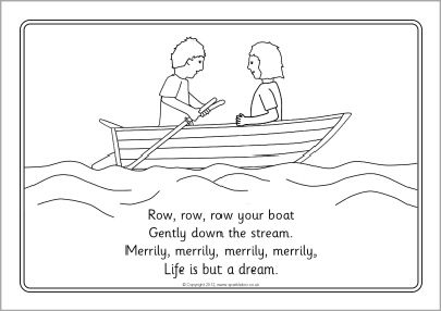 Row Row Row Your Boat Colouring Sheets Sb8331 Sparklebox