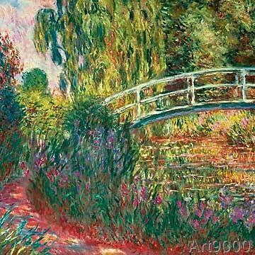 Claude Monet - Japanische Brücke im Garten von Claude Monet - chinesischer garten brucke