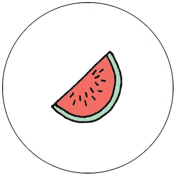 Button watermeloen - Shop - Eva Mouton, 3€