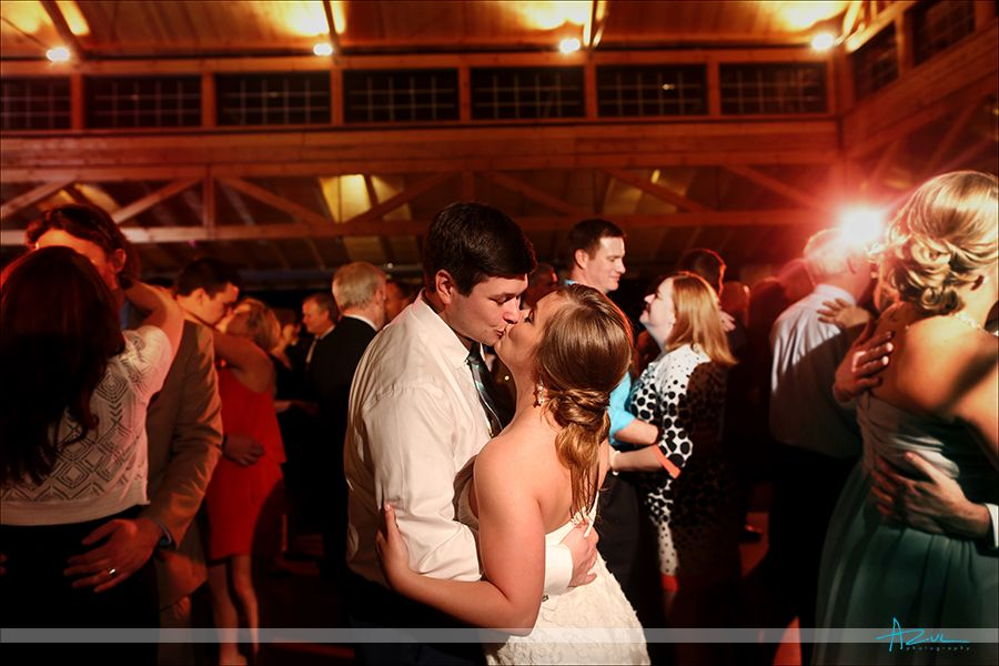 Kiss on the dance floor