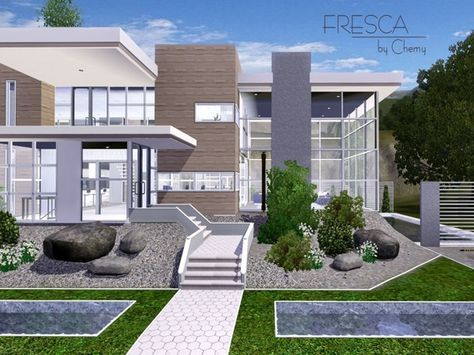 Fresca Modern house by chemy - Sims 3 Downloads CC Caboodle | Sims ...