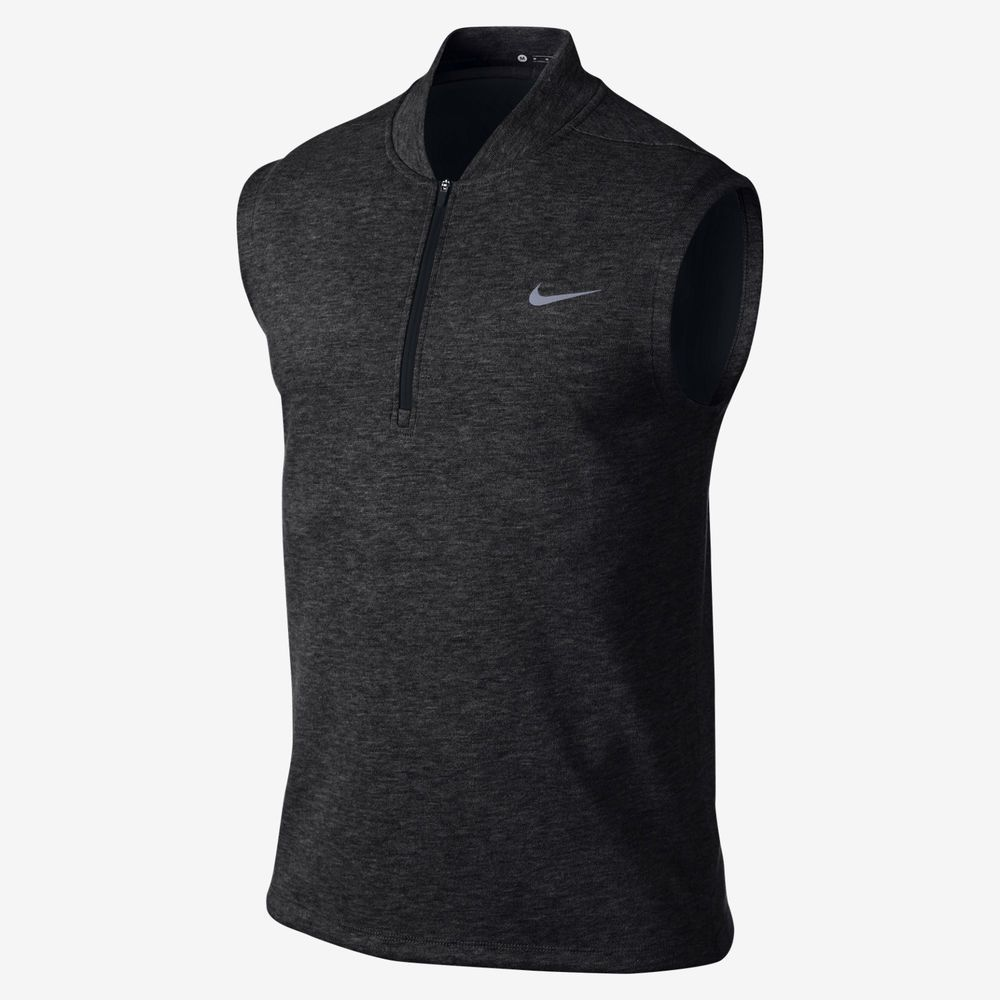 Nike Tiger Woods TW Tech 1 Men's Golf Sweater Vest Black 726572 032 Sizes M  L |