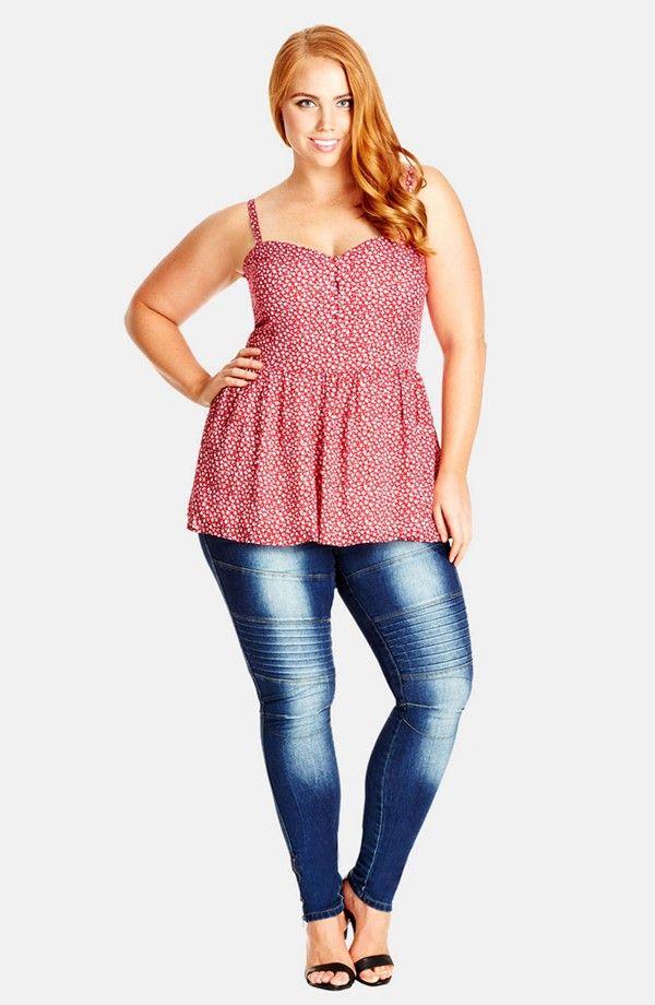 Peplum Top   Beautiful Big Curvy Plus Sized Women Fragyl Mari ...
