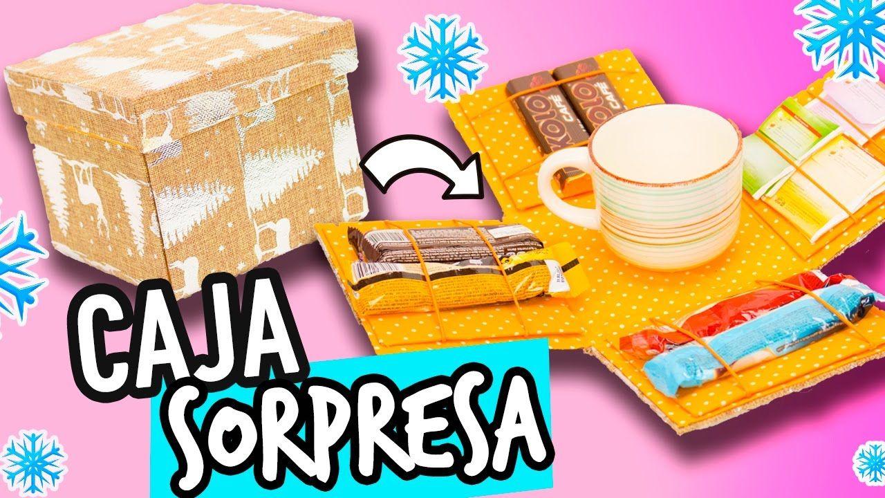 Caja sorpresa de regalo de cart n manualidades para - Cajas de carton de navidad ...