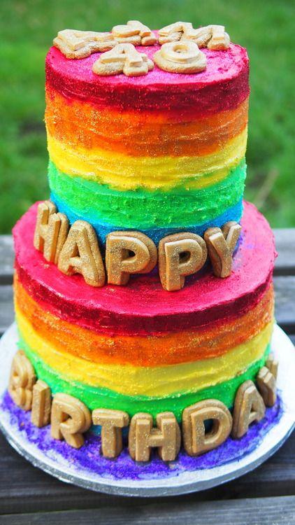 Double Rainbow cake All things Rainbow Pinterest Rainbow cakes