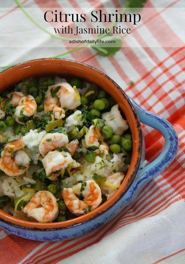 Citrus shrimp with jasmine rice recipe food recipes