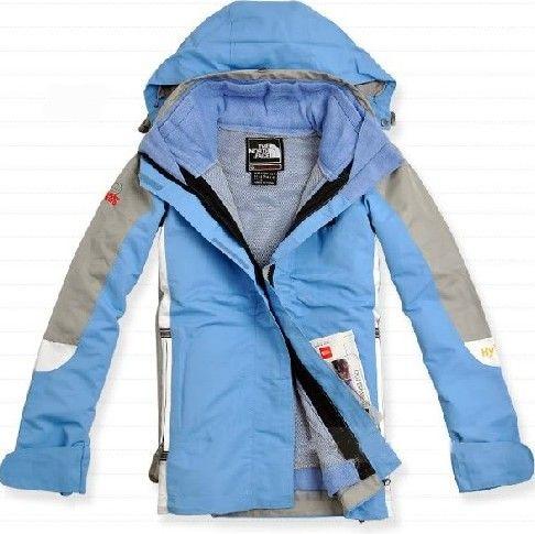 Cheap North Face Hyvent Women Blue Jacket uk http://www ...