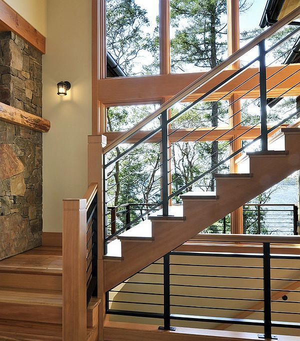 Stair Railing Designs For Home Interiors Elegant Staircase With