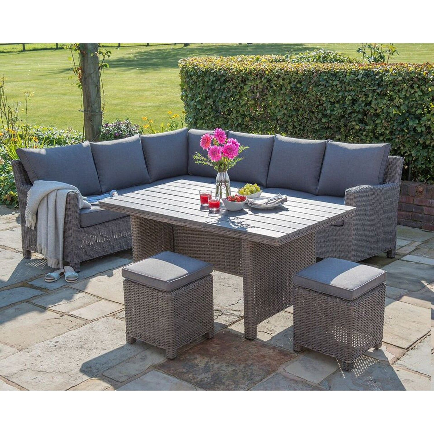 The Kettler Palma Corner Set Brings Luxury To Your Garden With The Casual  Dining Table And Comfy Sofas For Dining And Relaxation. The Two 3 Seater  Sofas And ...