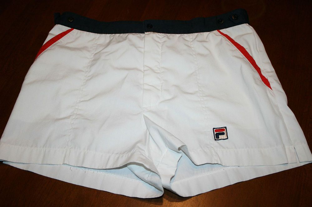 Vintage Fila White Tennis Shorts Men S Usa 35 Tennis Shorts Tennis Shorts Men Mens Shorts