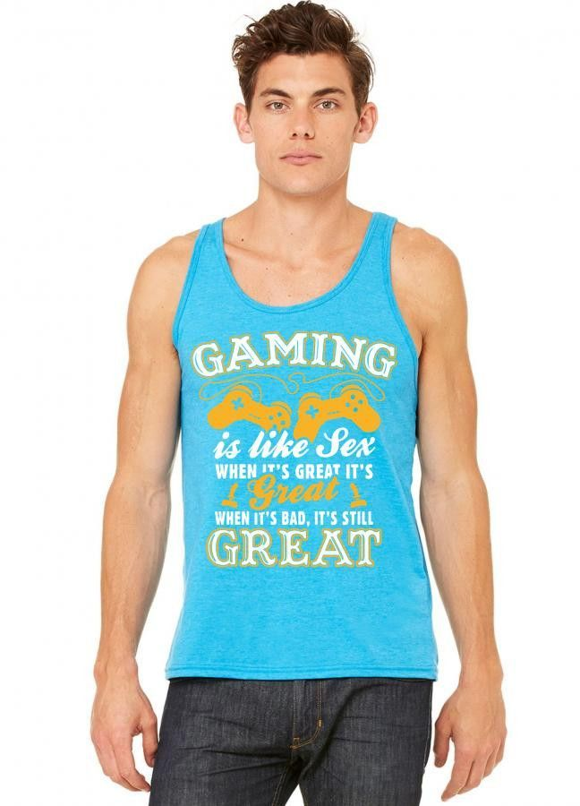 Gaming Is Like Sex tank top