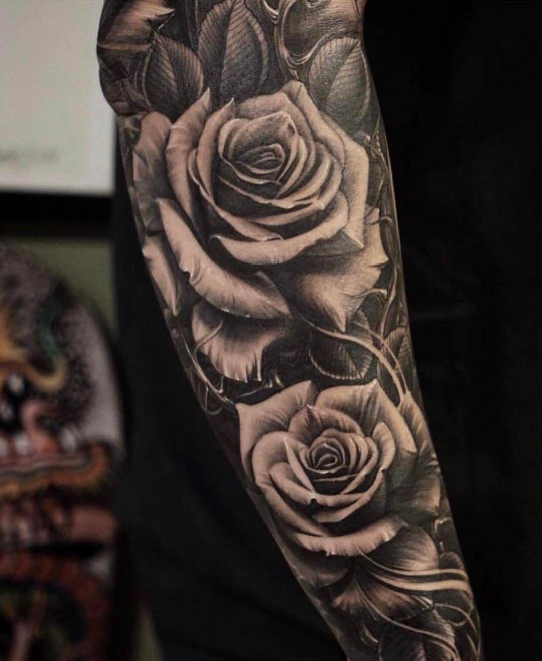 Pin De Victoria Anguiano Em ☆showin Up☆ Tatuagens De Rosas Para Homens Melhores Tatuagens