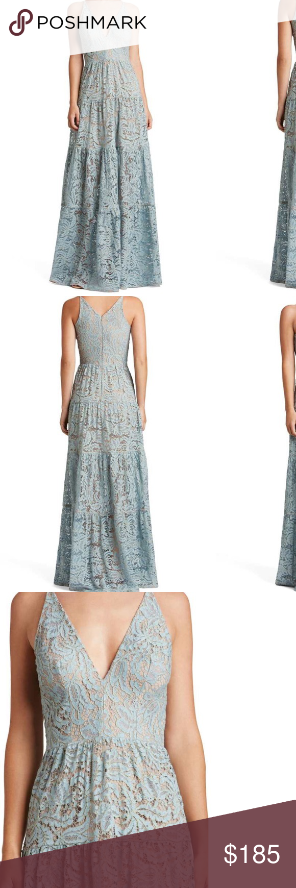 Melina lace fituflare maxi dress the population my posh picks