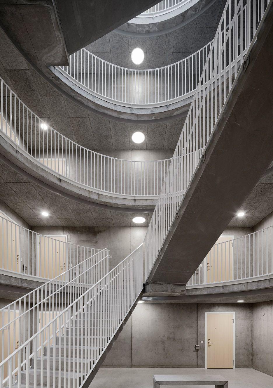 Tham Videgard S Vastra Kajen Housing Has Rows Of Inverted Arches