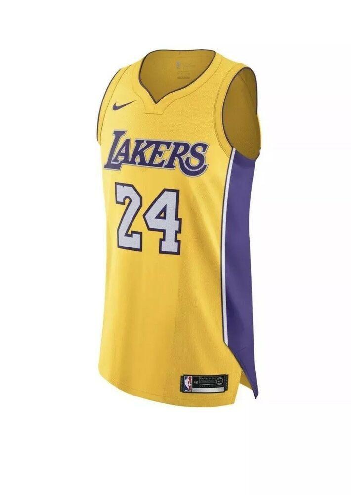 Nike Kobe Bryant #24 Icon Edition LA Lakers Home Jersey AQ2107-728 ...