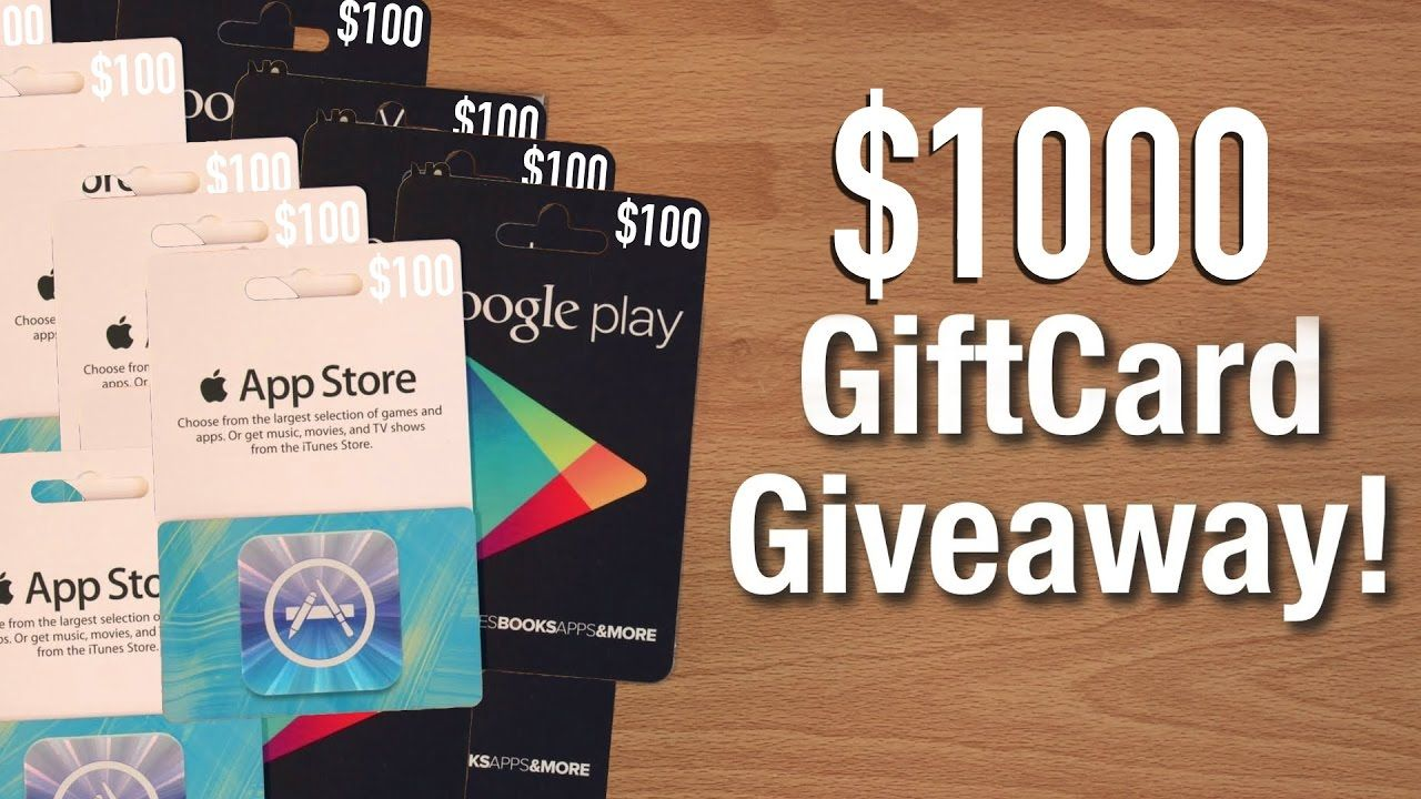 FREE ITUNES CARDS / FREE GOOGLE PLAY CARDS 🔴 $1000 APP