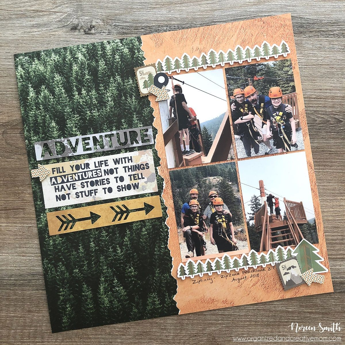Photographic Background Papers Tips and Tricks with Creative Memories #scrapbook