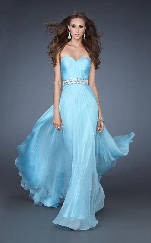 La Femme 18471 Strapless Light Blue Prom Dress 2013 [La Femme ...