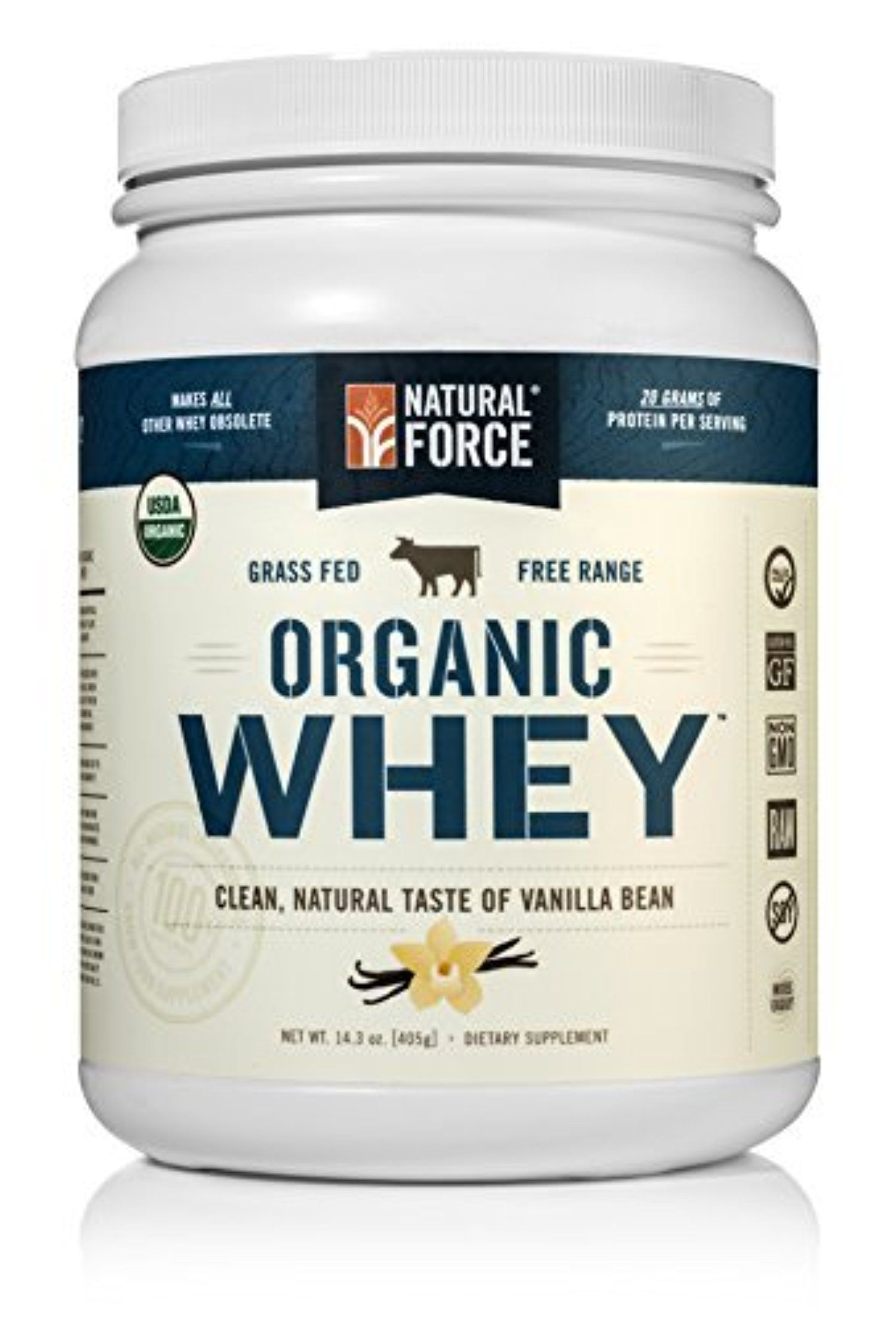 Natural organic whey protein powder