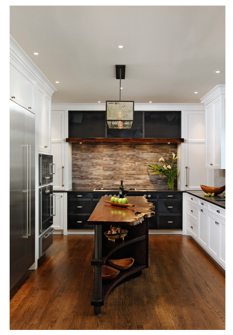 Rustic modern kitchen in steel and wood from houzz com · idee decocuisinescuisines