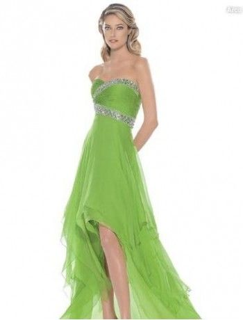 Image Detail For Lime Green A Line Bridesmaid Dress Bm