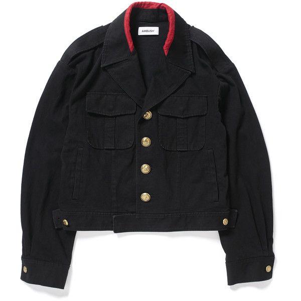 SSS MILITARY JACKET ($445) ❤ liked on Polyvore featuring outerwear, jackets, army jacket, military jacket and field jacket