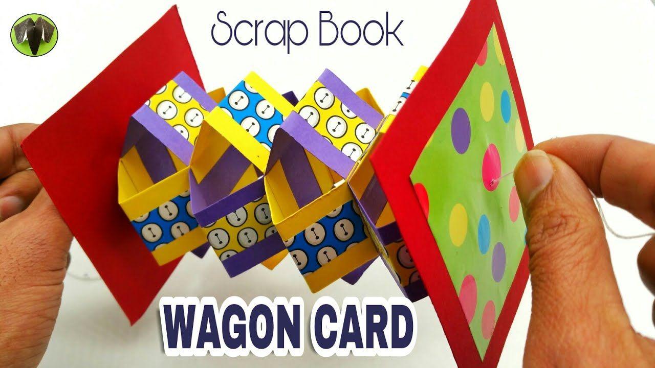 Wagon Photo Card Scrap Book Diy Tutorial By Paper Folds 740