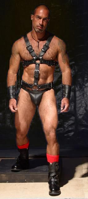Mature gay leathermen