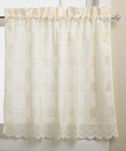 Lorraine Home Fashions Calais 60 Inch X 36 Inch Tier Curtain Pair