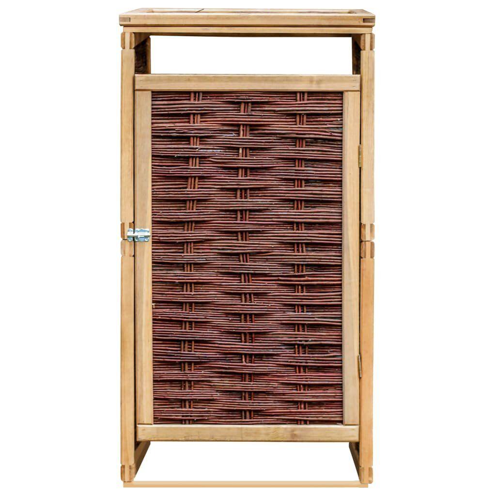 Kalmanovitz Wooden and Wicker Single Bin Store