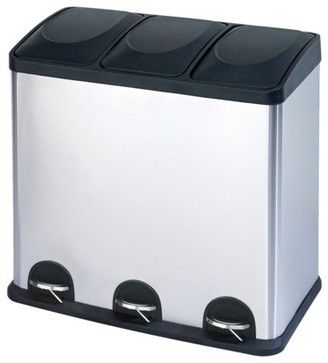 The Smart Bin Waste/Recycling Bin   Modern   Kitchen Trash Cans   Target