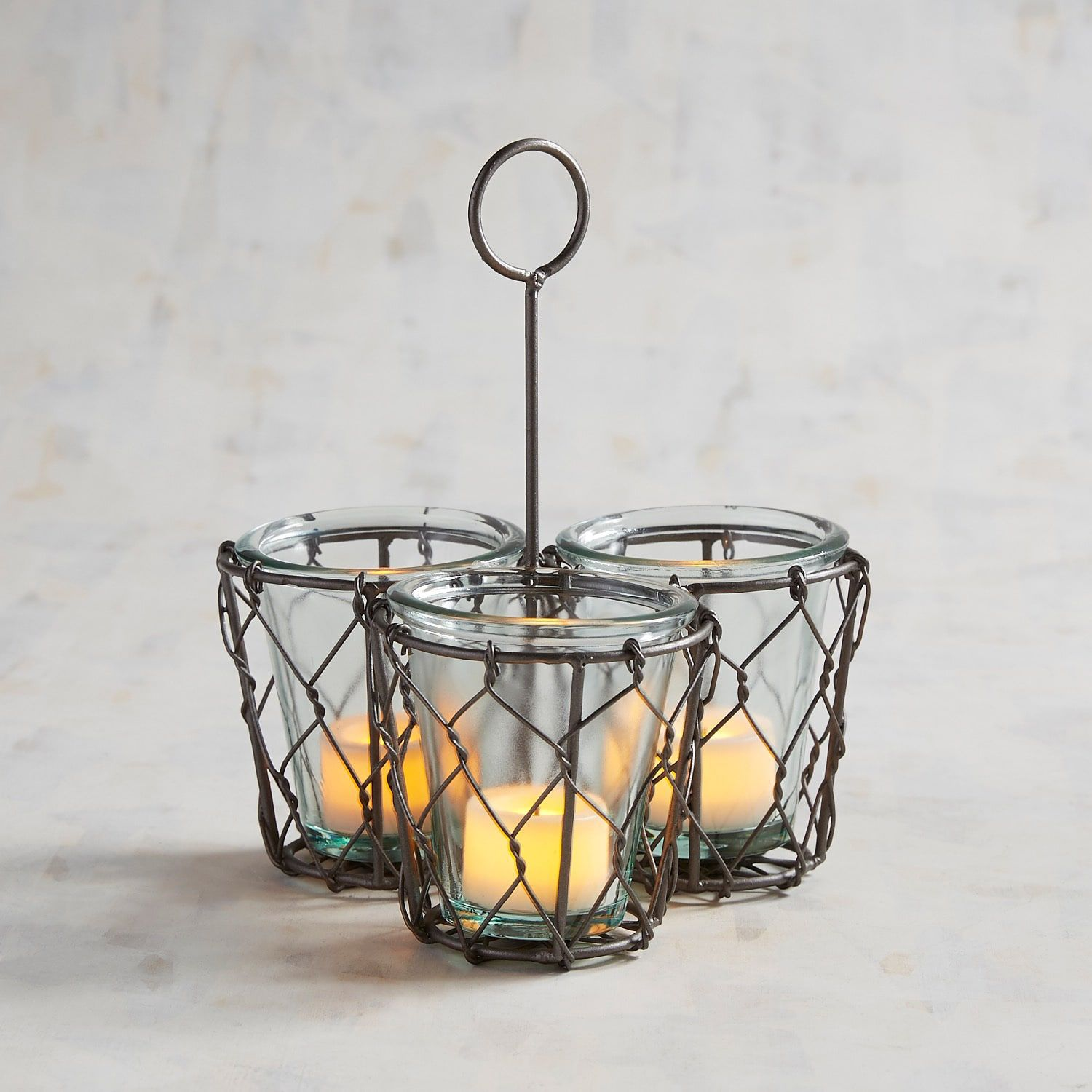 Chicken Wire Multiple Tealight Candle Holder | Products | Pinterest ...