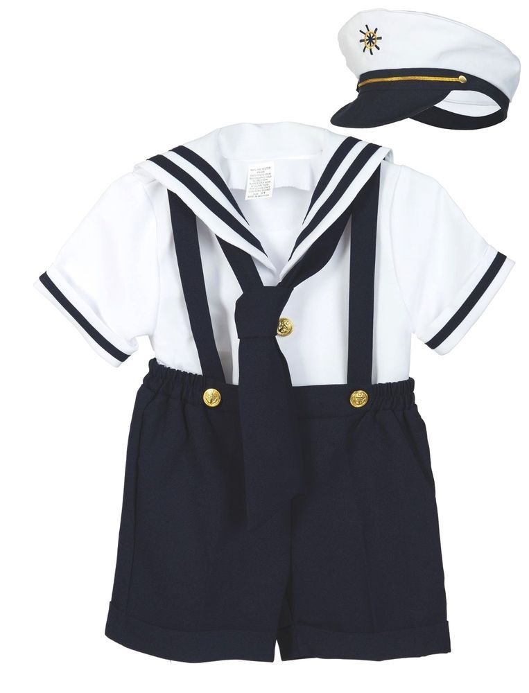 NEW Baby Boy /& Toddler Easter Sailor Formal Party Suit Outfits NAVY SZ S,M,L-4T