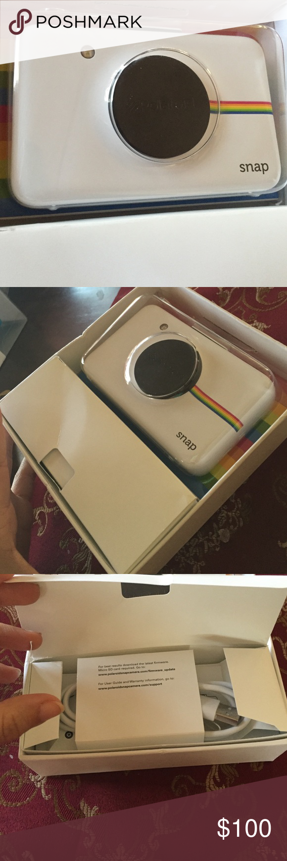 Polaroid SNAP Digital Camera Brand new, never used but I did open it. Comes with its original package and usb, and of coarse camera. No film. ❗️No Trades❗️ Polaroid Other