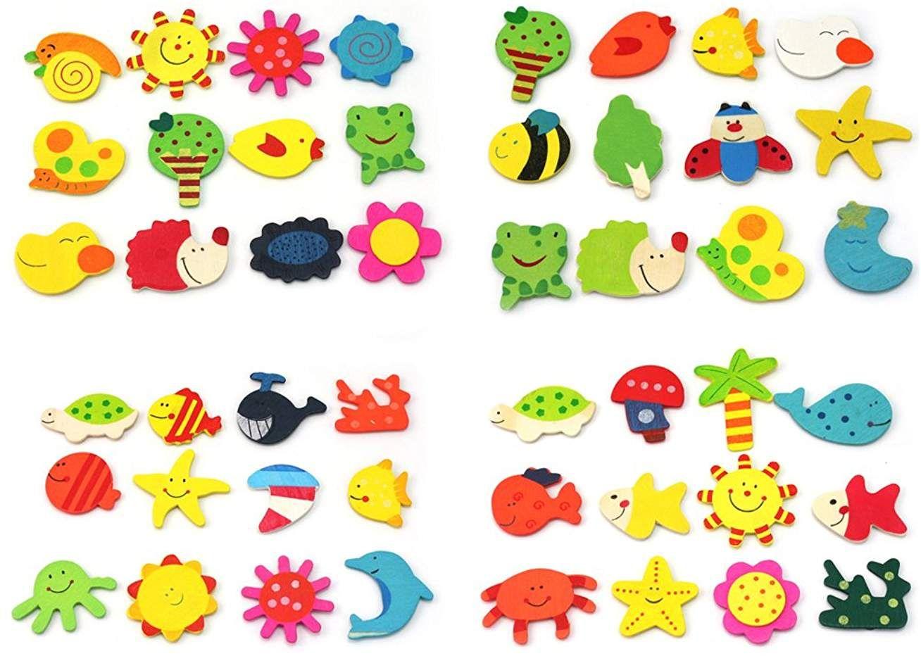 6 x Chat magnet frigo aimant animaux pour enfant tableaux magn/étiques whiteboard Aimants d/écoratifs puissants pour frigo 6 pi/èces tableaux blancs