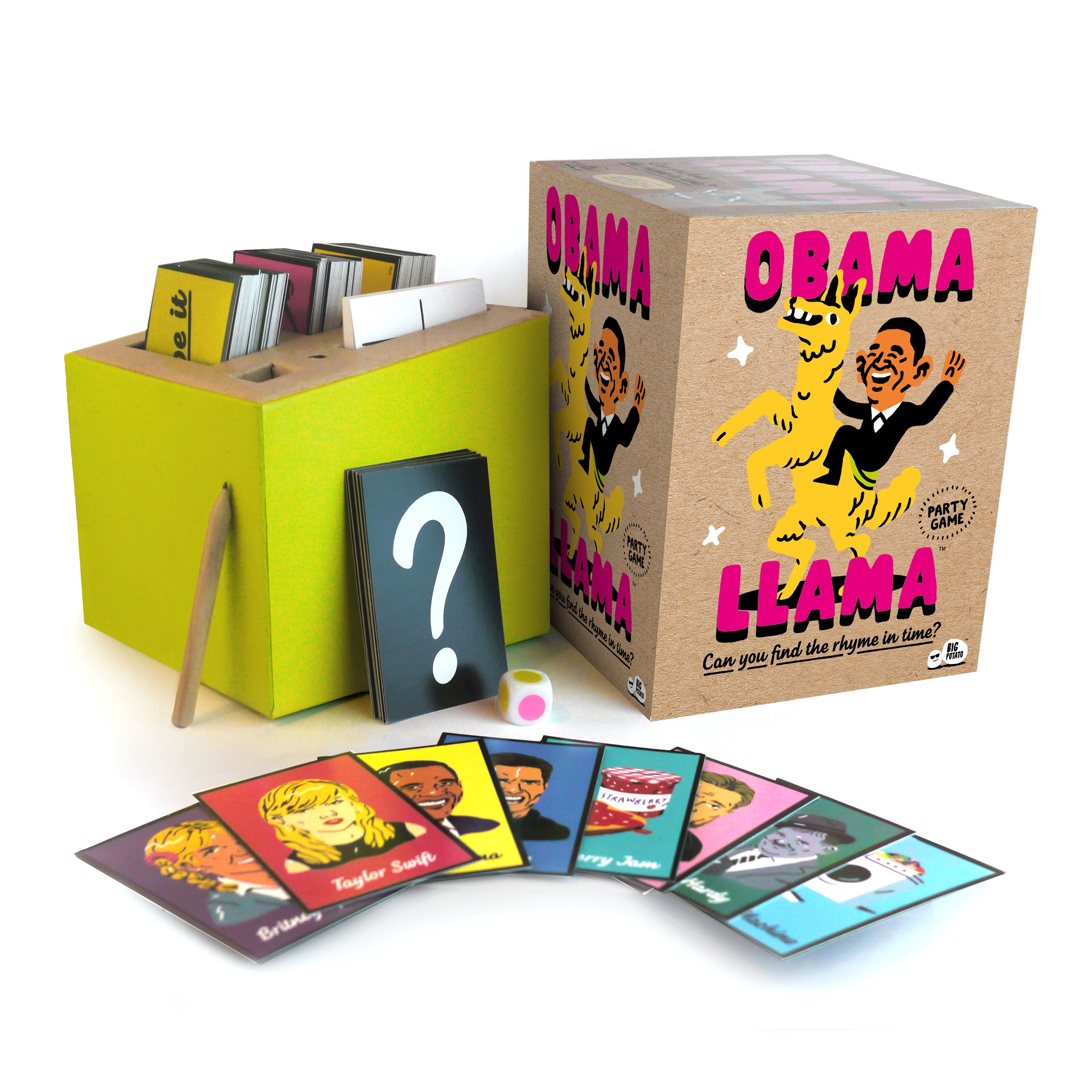 Obama Llama The Celebrity Rhyming Party Game By Big Potato