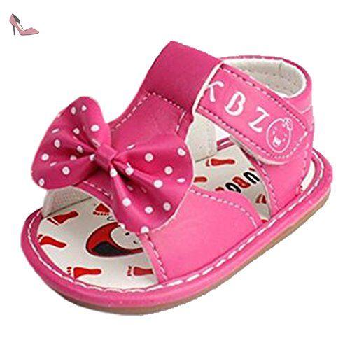 66bf42faf3e61 Ohmais Enfants Chaussure bebe fille premier pas Chaussure premier pas bébé  sandale en cuir souple -