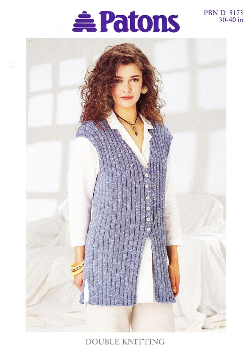 Patons Knitting Pattern 5173, DK, Lady\'s Rib Waistcoat   Вязаный ...