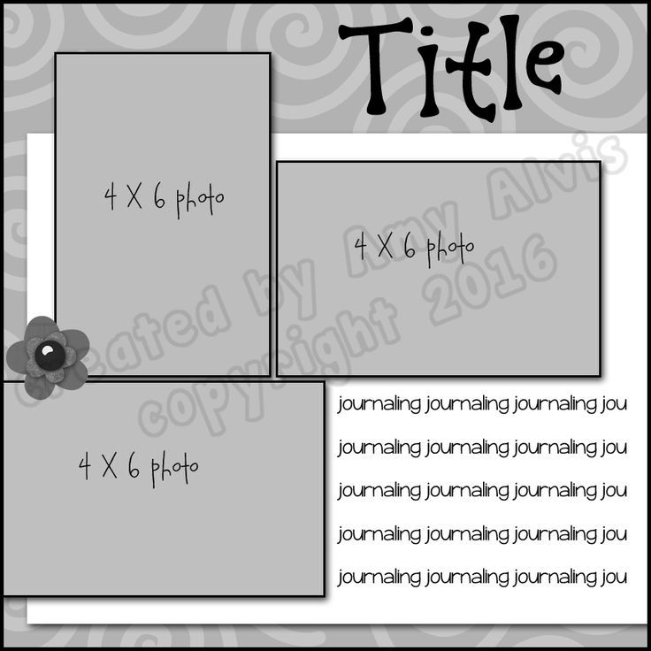 Image Result For Scrapbook Layout Ideas Scrapbooking Pinterest