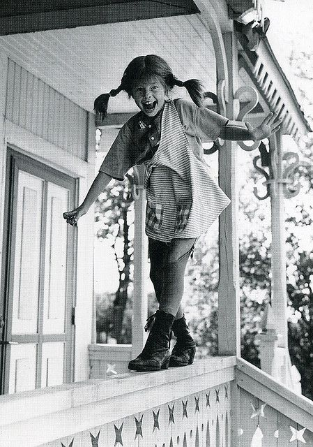 Pippi Longstocking bw