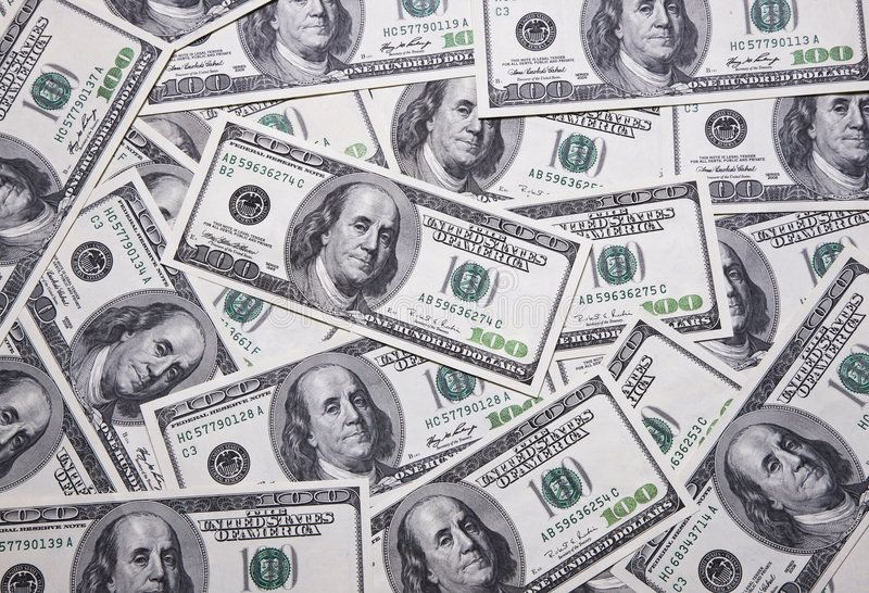 Money. Closeup image of money , lots of 100 US dollar