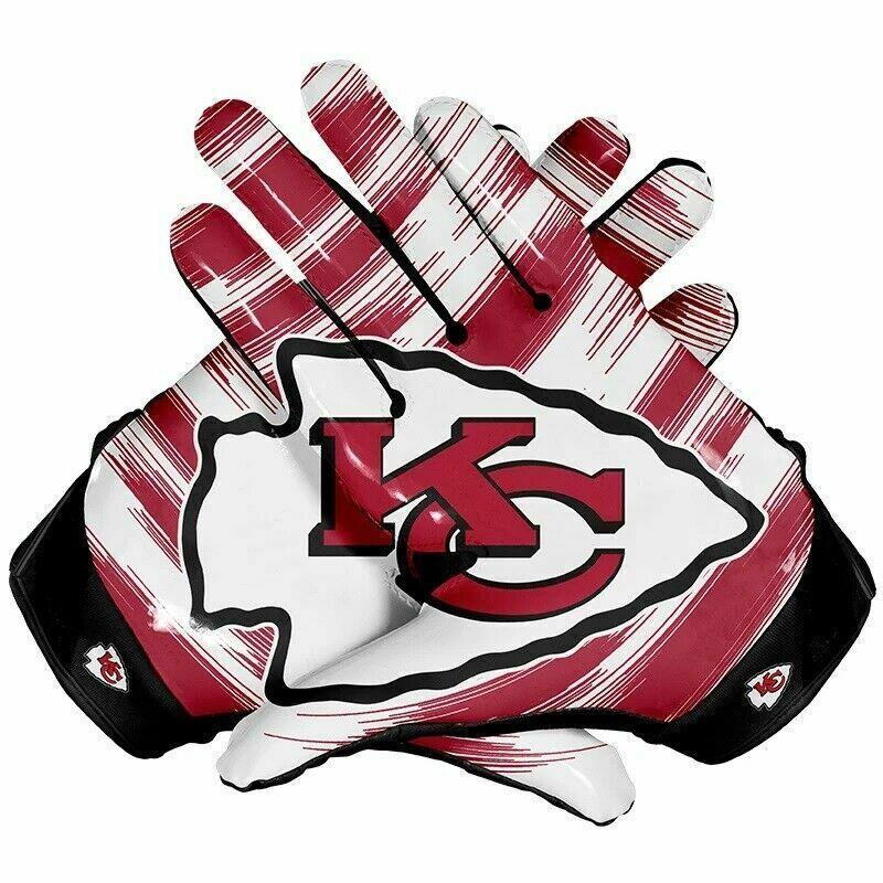 American Football Gloves Kansas City Chiefs Team Nfl With Glue Grip For Better Dressclub Football Gloves Nfl Football Gloves American Football