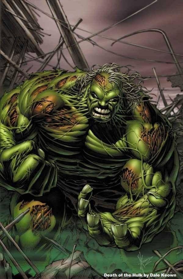 The Death Of Hulk By Dale Keown Angelakamcomicartwordpress
