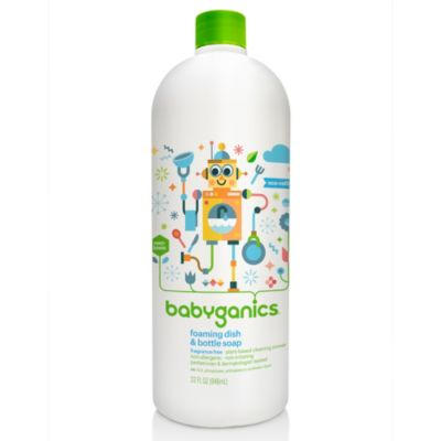 Babyganics 32 Oz Fragrance Free Foaming Dish Bottle Soap Refill