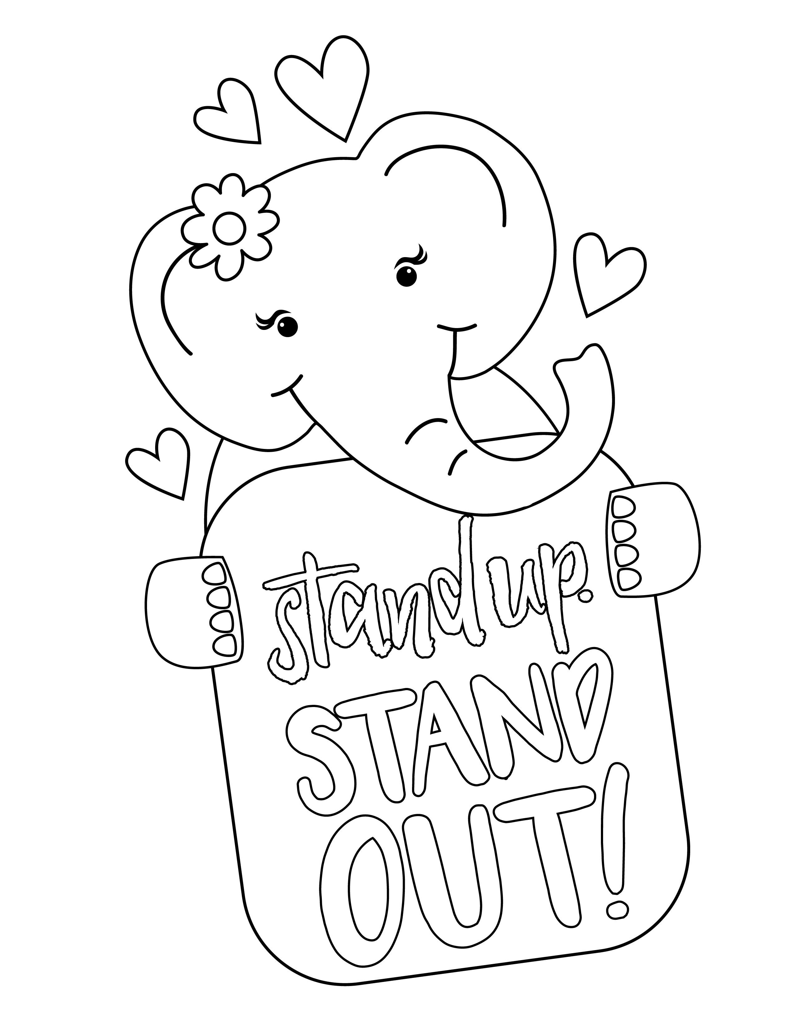 2018 girl scout cookie mascot coloring page
