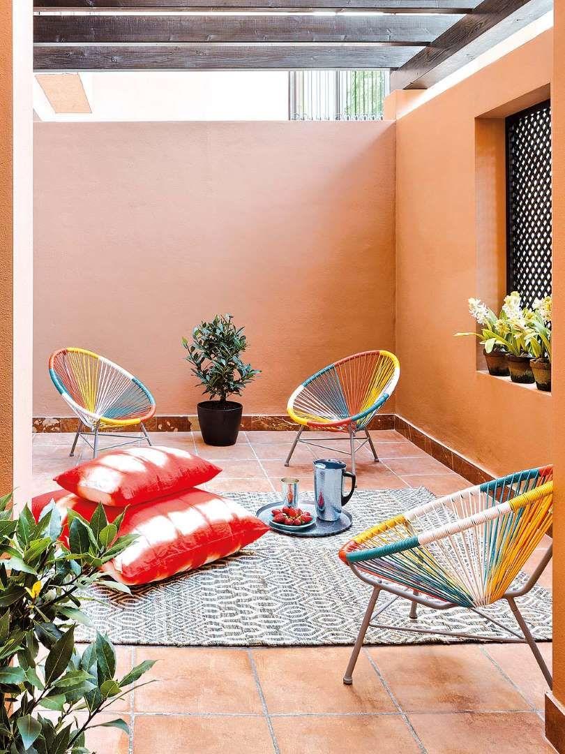Ideas Decorativas Para Terraza Patio O Balcon Decoracion Patios Interiores Decoracion De Patio Exterior Colores Para Patios