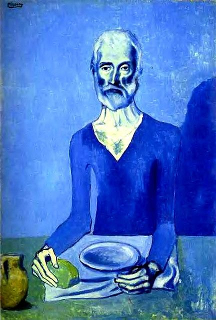 Picasso, Pablo (1881-1973) - 1903 The Ascetic | Flickr - Photo Sharing!