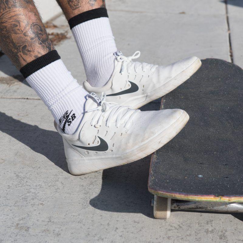 cf38e06f0e4b2 Nike SB Nyjah Men s Skateboarding Shoe - White in 2019